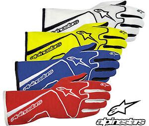 Alpinestars Tech 1 Gants Course Approuvé Fia Nomex Ovale / Rally / Autograss