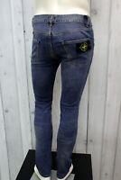 STONE ISLAND Jeans Uomo Taglia 42 Pantalone Regular Cotone Pants Men Man Italia