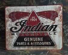 Tin Signs New Indian Motorcycle Genuine Parts And Accessories DD