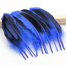 "Tono de plumas de pato de 10 X 2 Azul Real Aprox 4"" - 5""UK. nuevo Stock Vendedor."