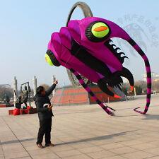 3D 7 Sqm 1 Line purple  Stunt Parafoil Trilobites Power Sport Kite outdoor Toy
