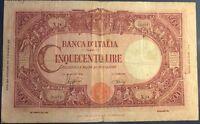 ITALIE - 500 LIRE (1943) - Billet de banque italien (B)