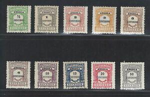 Portuguese Angola | 1921 | Postage Due | #21-30 MH OG