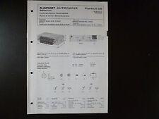 Original Service Manual Blaupunkt Autoradio Frankfurt US 7636622