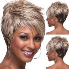 Fashion Women Hair Wig Pixie Cut Short Hair Wig Mix Brown Blond Colour Cosplay