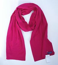 NWT RALPH LAUREN PURPLE Label Pink 100% CASHMERE Knitted Long Scarf