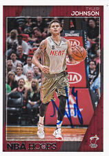 TYLER JOHNSON MIAMI HEAT SIGNED HOOPS CARD PHOENIX SUNS FRESNO STATE BULLDOGS
