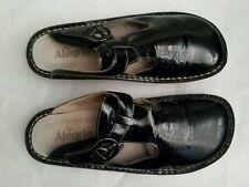 Fantastic Black Patent ALEGRIA Sz 41 10.5 Slip-on Mule Clog Platform Shoes