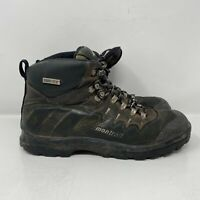Montrail Mens Gore Tex Black Brown Leather Waterproof Hiking Boots Size 10