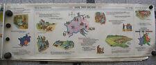 Wandbild Geschichtsfries Karl der Große 139x50 vintage charlesmagne wall map ~65