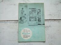 Vtg 1958 HotPoint Combination Refrigerator Freezer Manual Instructions Booklet