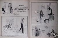 DESSIN DE PRESSE HUMORISTIQUE KIRAZ LES PARISIENNES AVEC LEURS SABOTS DONDAINE