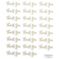 Gold Foil Thank you Stickers  Papercraft Planner Supply Wedding Anniversary Card