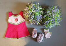 """American Girl Doll Cheerleader Outfit for 18"""" Dolls with Shoes & Pom Pom's"""