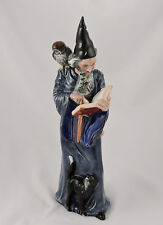 Royal Doulton Figurine The Wizard Figurine HN 2877 Owl Cat Spell Book 1978 NICE!