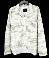 Sanctuary Anthropology Womens 2 Pocket Jacket Shirt Beige Camo Shacket Size M