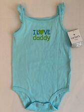 NEW CARTER'S Girls Size 24 Months Blue Bodysuit I Love Daddy