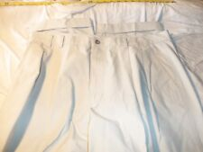 greg  norman 38 x 28  pleated & cuffed 100% cotton #153