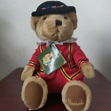 "Rare Harrods Knightsbridge Plush 12"" Beefeater Royal Guard Bear Uk Souvenir"
