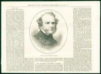 1874 Antique PORTRAIT Print - Howard Staunton Chess Player  (69)