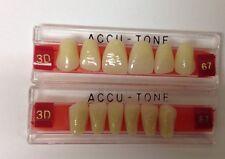 Acrylic False Teeth For Dentures, Full Upper & Lower Anterior Set.67.accutone 3D
