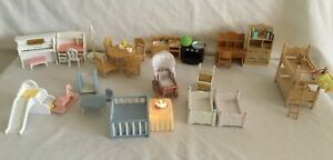 Sylvanian Families ~ Kitchen ~ Bedroom & Nursery Furniture Bundle