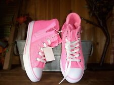 CONVERSE GIRLS ATHLETIC SHOES SIZE 2M COLOR PINK HIGH TOP CLASSIC SCHOOL SPORTS