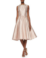 NWT Rachel Gilbert Alexis Jewel Neck Fit and Flare Dress Size 4 $2700