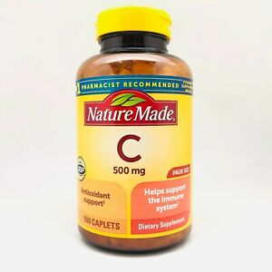 Nature Made Vit. C with Antioxidant Support ~ 500 mg ~ 500 Caplets, EXP-AUG 2024