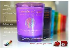 Crown Chakra Candle 100% Pure Organic Lavender Essential Oil  with Soy Wax