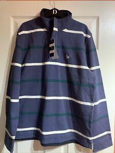 Crew Clothing Company PADSTOW PIQUE SWEATSHIRT Blubirch, Size XL,