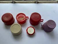 Vintage Aladdin Thermos Travel Jug Cup Container Assorted Lid Lot