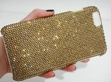 Gold Made with Swarovski Crystal Bling Sparkle Gem Case Cover Skin iPhone 6 Plus