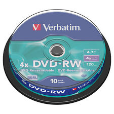 Verbatim  DVD-RW x 10 - 4.7GO vierge