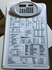 Standris Nursing Clipboard With White Calculator And Reference Info