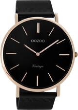 Oozoo Vintage  black/rose Milanaiseband 4 Grössen superflach 8868-8871