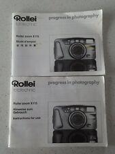 Original Rollei Zoom X115 35mm Camera Manual / Instructions - c. 1995 - VGC