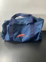 VINTAGE ALOHA AIRLINE DUFFLE BAG WITH ZIPPER/HANDLE (VERY GOOD CONDITION!)