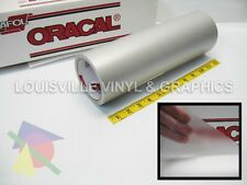 "12"" X 10ft - Oracal 8510 Silver - Fine Etched Glass Craft & Hobby Cutting Vinyl"