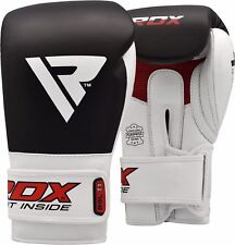 RDX Boxing Gloves Cow Hide For Training MMA Punching Glove Muay Thai Fighting US