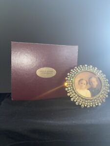 Edgar Berebi Picture Frame 1021-9 Swarovski Crystals And 24k Gold Plate