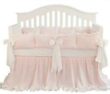 New ListingSahaler Boutique Blush Coral Pink Ruffle Baby Crib Blanket and Bed Skirt