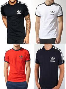Adidas TREFOIL CALIFORNIA Men Crew neck Short Sleeve Cotton T shirt Tee Top
