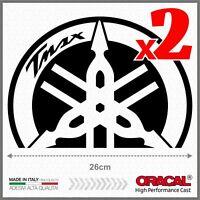 2pcs Nero ADESIVI BIG compatibile con Yamaha Tmax 01-07 Diapason T-Max Scudo