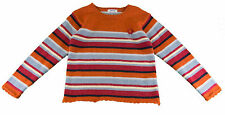 JACADI Girl's Raccourci  Orange/ Multi Striped Sweater Sz: 2 Years NWT $86