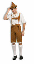 Adult Hansel Lederhosen Oktoberfest German Bavarian Beer Costume One Sz