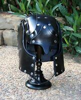 Basic Hawk Faced Leather Helmet Fantasy Armor SCA LARP Helm medieval armour