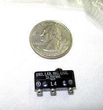 Subminiature Microswitch 11SM1 SPDT  Push pin - 5A 250V - solder lug (Lot of 25)