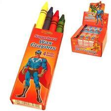 Superhéroe Fiesta Cera Crayones (10 Paquetes suministrado)