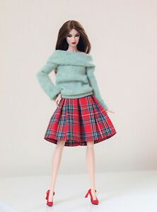 Christmas plaid outfit #5 for Poppy Parker, Barbie, FR by Olgaomi